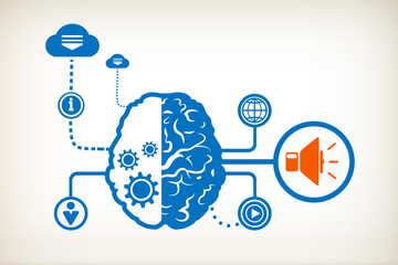 Speaker and abstract human brain