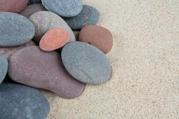 pebbles on sand