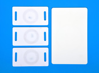 white RFID cards