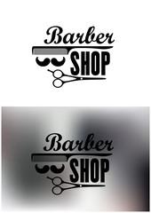 Barber Shop emblems or labels