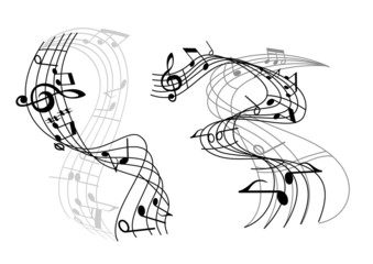 Abstract music waves
