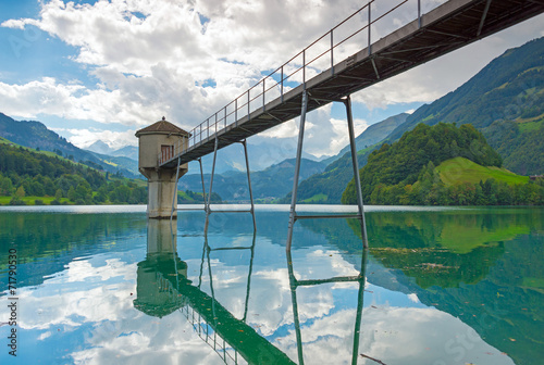 canvas print picture Lungerersee in Kanton Obwalden