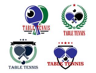 Table Tennis emblems or badges