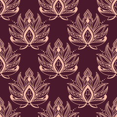 Burgundy and pink damask floral pattern