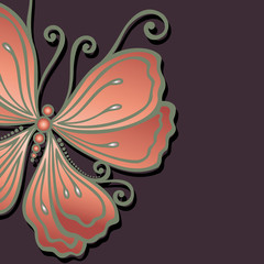 Vector Colored Floral Background. Hand Drawn Texture with Butter