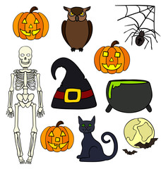 Halloween drawings vector