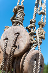 Rigging of the sailing ship