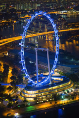 Illuminated Singapore flyer
