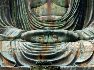 Great Buddha in meditation pose, Kamakura, Japan