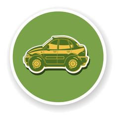 Flat illustration of sedan