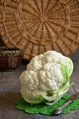 Raw cauliflower.