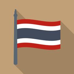 Thailand flag vector icon