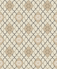 Tiled texture. Abstract seamless background. Geometric pattern