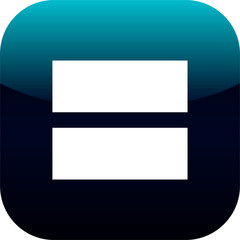 equal sign flat icon