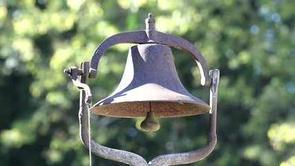 Rusted Bell Closeup Outside