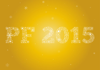 PF 2015 on gold background
