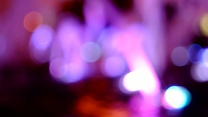 Violet defocused lights at urban night