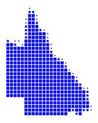 Karte von Queensland