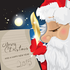 Merry Christmas Lettering, Santa Clause Writing Text Message