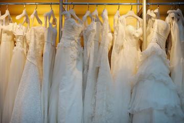A few beautiful wedding dresses