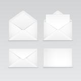 Set of White Blank Envelopes Isolated - 71793989