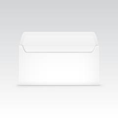 White Blank Envelope Isolated