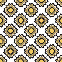 Tiled texture. Floral seamless background. Geometric pattern