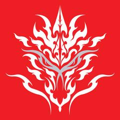 Tribal dragon tattoo design for body art and fashion