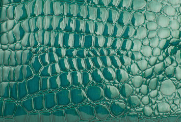 Green alligator / crocodile skin leather (wallpaper,background)