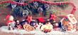canvas print picture - weihnachts dekoration