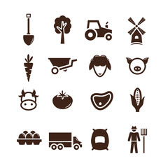 Stock vector farm pictogram icon set