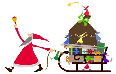 as-Weihnachtsmann und Wichtel