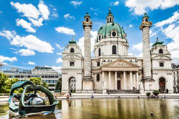Wiener Karlskirche at Karlsplatz in Vienna, Austria