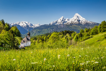 Idyllic mountain landscape in the the Alps, Bavaria, Germany