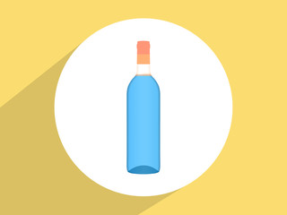 Wine bottle ,Flat design style