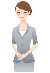 女性 表情 スーツ