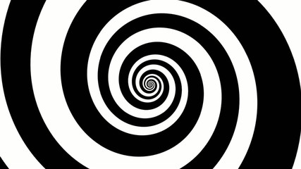 Endless hypno black and white spiral