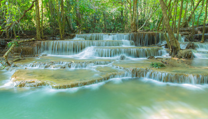 Waterfall beautiful in asia southeast asia Thailand