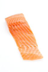 Salmon meat isolated on white