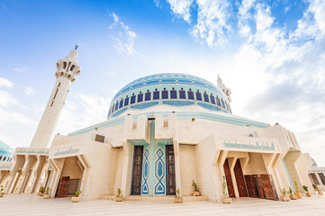 Jordanian King Abdullah I Mosque in Amman