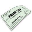 Student Loan Debt Installment Payment Check Money Paid Back