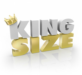 King Size 3d Words Gold Crown Large Quantity Amount