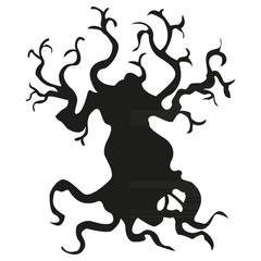tree black silhouette3