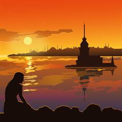 Kız kulesi  ( Istanbul )