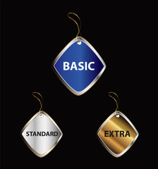 Basic standard extra label tag