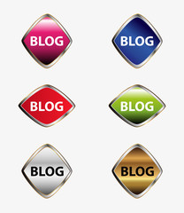 Blog icon stickers set