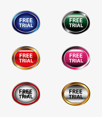 Free trial icon button