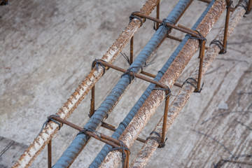 Rebar bending shape.  used for the construction of a building