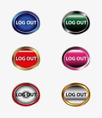 Logout icon set tag