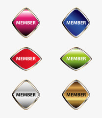 Members tag sign vector